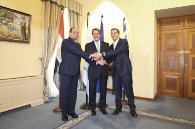 Φωτογραφίες από την Τριμερή Σύνοδο Ελλάδος-Κύπρου-Αιγύπτου στην Λευκωσία.