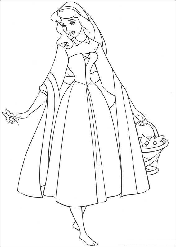 Cartoons Coloring Pages: Princess Aurora Coloring Pages