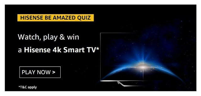 Hisense be Amazed Quiz watch play and win