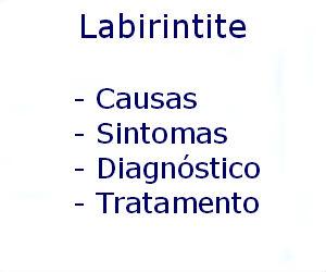 Labirintite causas sintomas diagnóstico tratamento prevenção riscos complicações