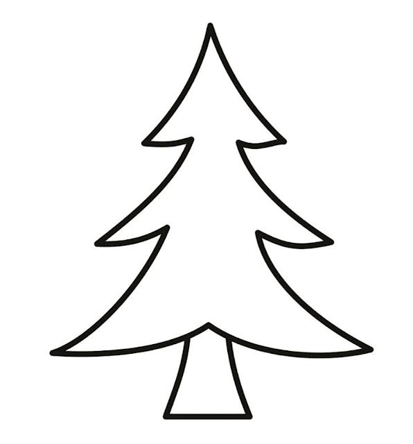Gambar Mewarnai Pohon Cemara - 4