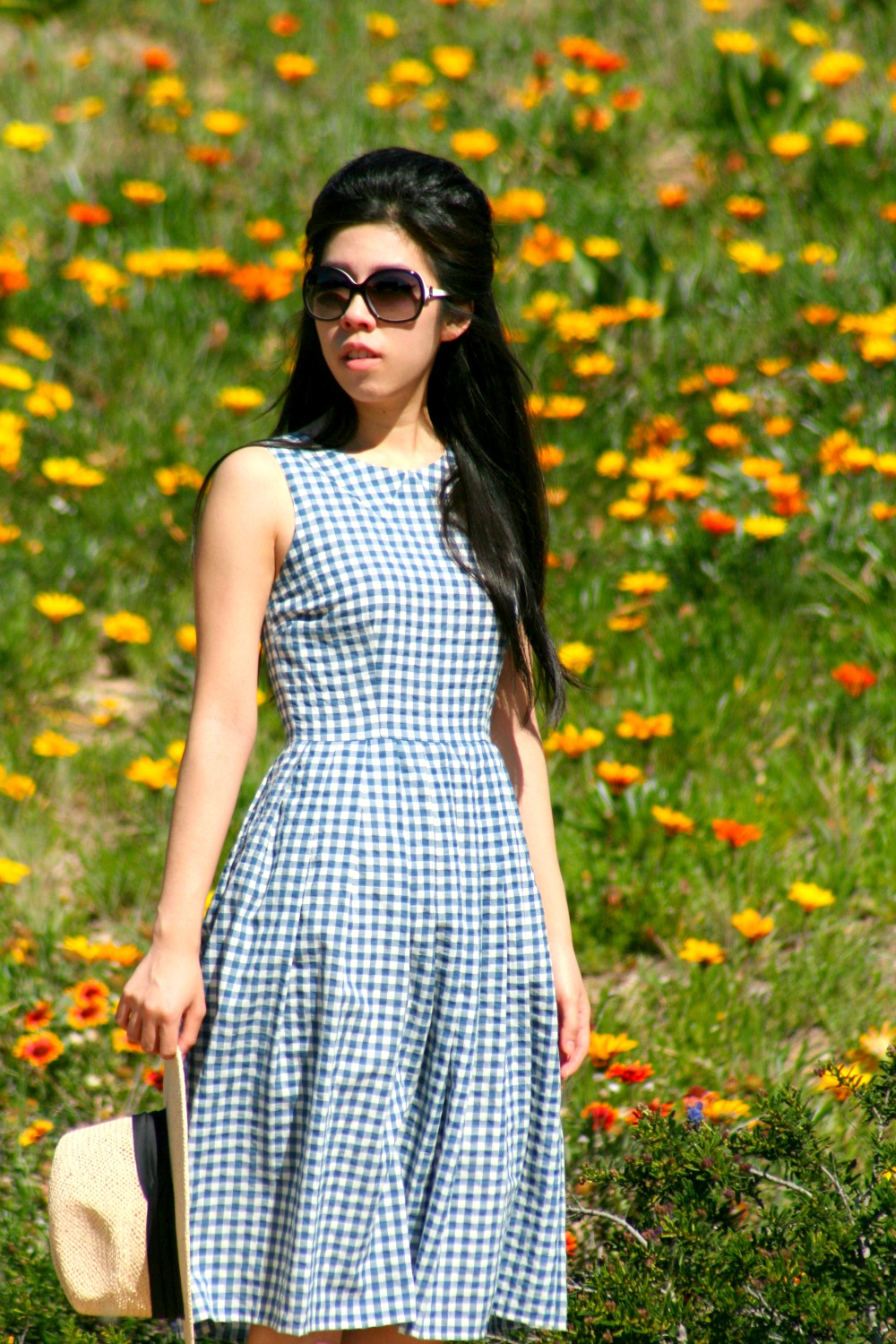 Gingham Print_Midi Dress_Nordstrom Fashion_How to Make Cheap Look Chic_Invictus_Adrienne Nguyen