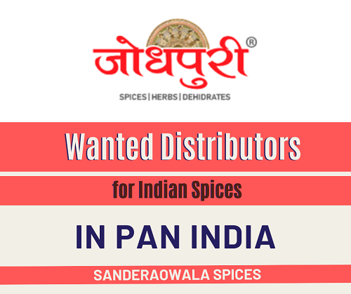 Wanted Distributors for Indian Spices in All Over India