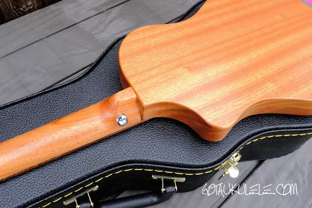 Bonaza Homestead baritone ukulele back