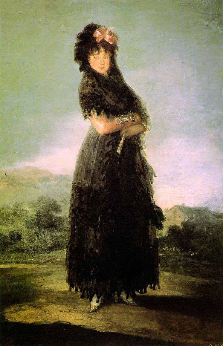 Retrato de Mariana Waldstein - Goya, Francisco e suas pinturas ~ Foi um importante pintor espanhol da fase do Romantismo