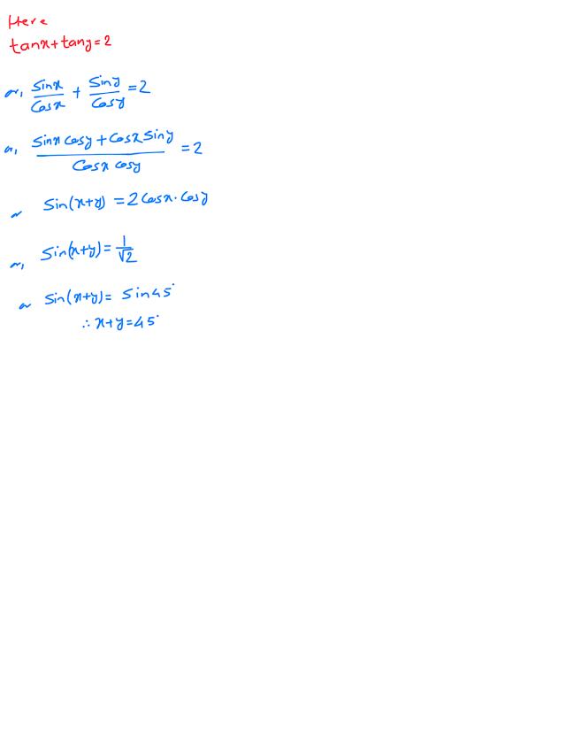 Class ten, optional mathematics, trigonometric equation