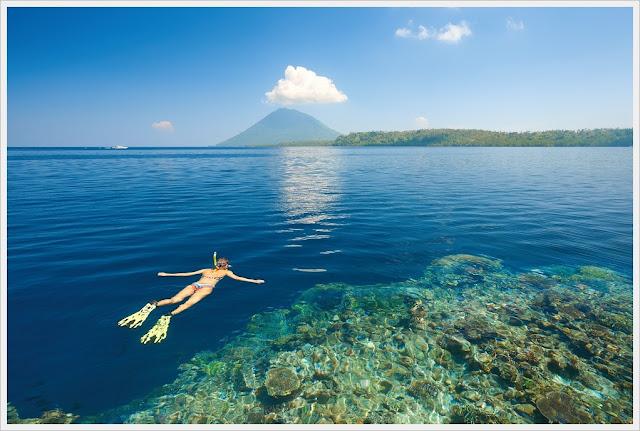 Bunaken diving resort, popular asia