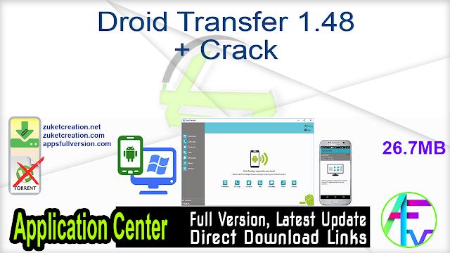 Droid Transfer 1.48 + Crack