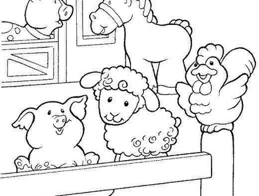 Volta As Aulas Animais Da Fazenda Para Colorir Imprimir Ii