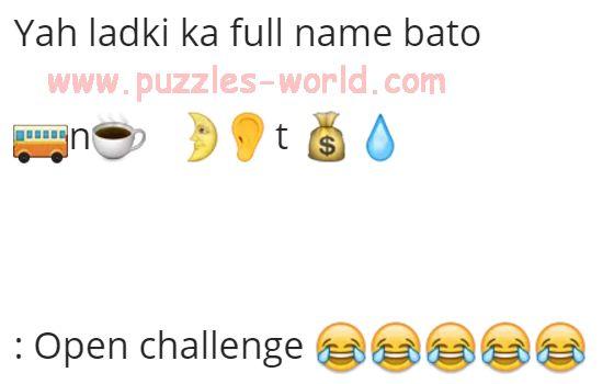 Yah ladki ka full name bato