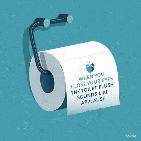 Iconeo: When you close your eyes the toilet flush sounds like applause