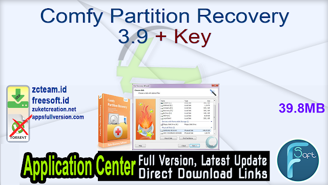 Comfy Partition Recovery 3.9 + Key_ ZcTeam.id