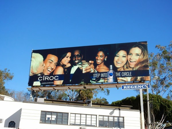 Step into circle Ciroc Vodka billboard