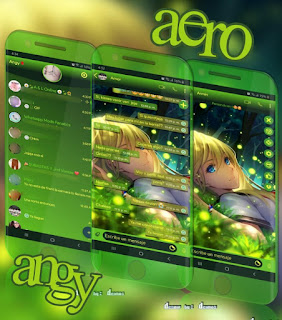 Anime Girl IOS Theme For YOWhatsApp & Aero WhatsApp By Ave fénix