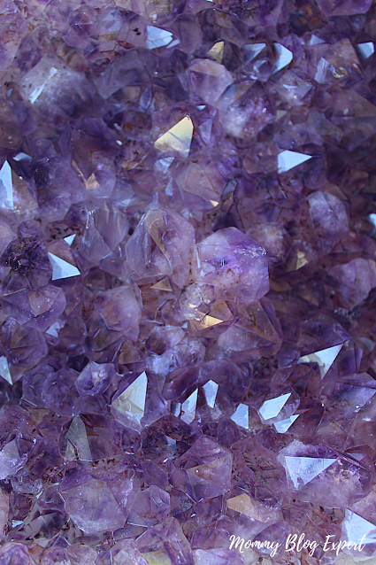 Amethyst Crystal Geode Natural Closeup