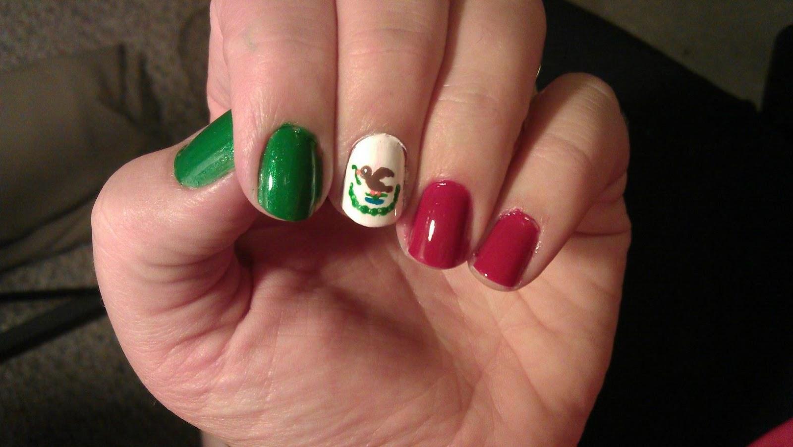 Lacquerloft Cinco De Mayo Mexican Flag Nails