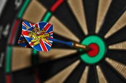 A dart successfully hitting the bulls-eye