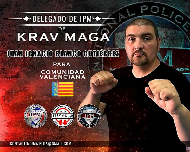 Nombramiento del entrenador D. Juan Ignacio Blanco Gutiérrez como Delegado de KRAV MAGA de IPM, para la Comunidad Valenciana