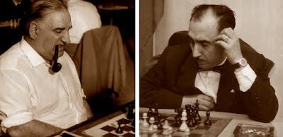 Los ajedrecistas José Sanz Aguado y Jaume Lladó Lumbera