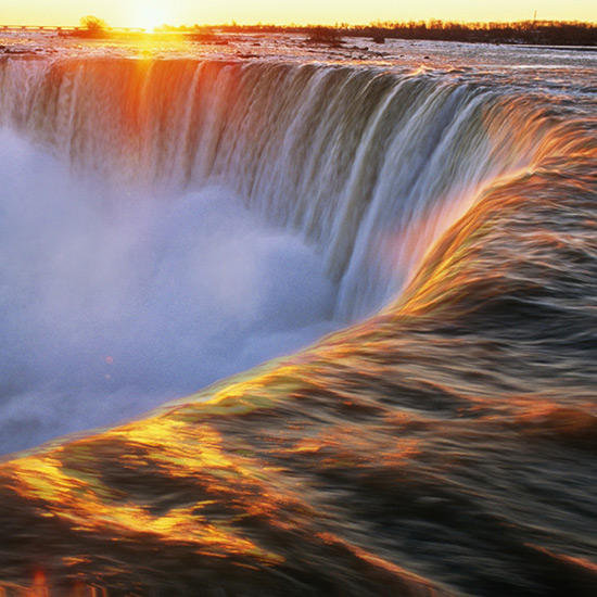 Niagara Falls At Sunset, Canada Wallpaper Engine