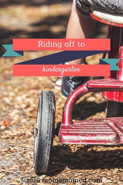 Mom2MomEd Blog: Riding off to kindergarten