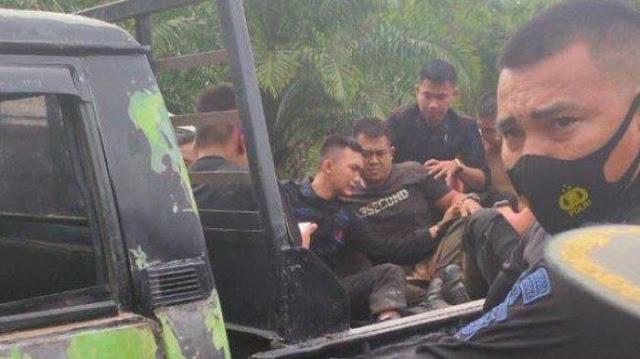 Bus Terguling, 2 Anggota Brimob Dibawa ke RSUD Kerinci