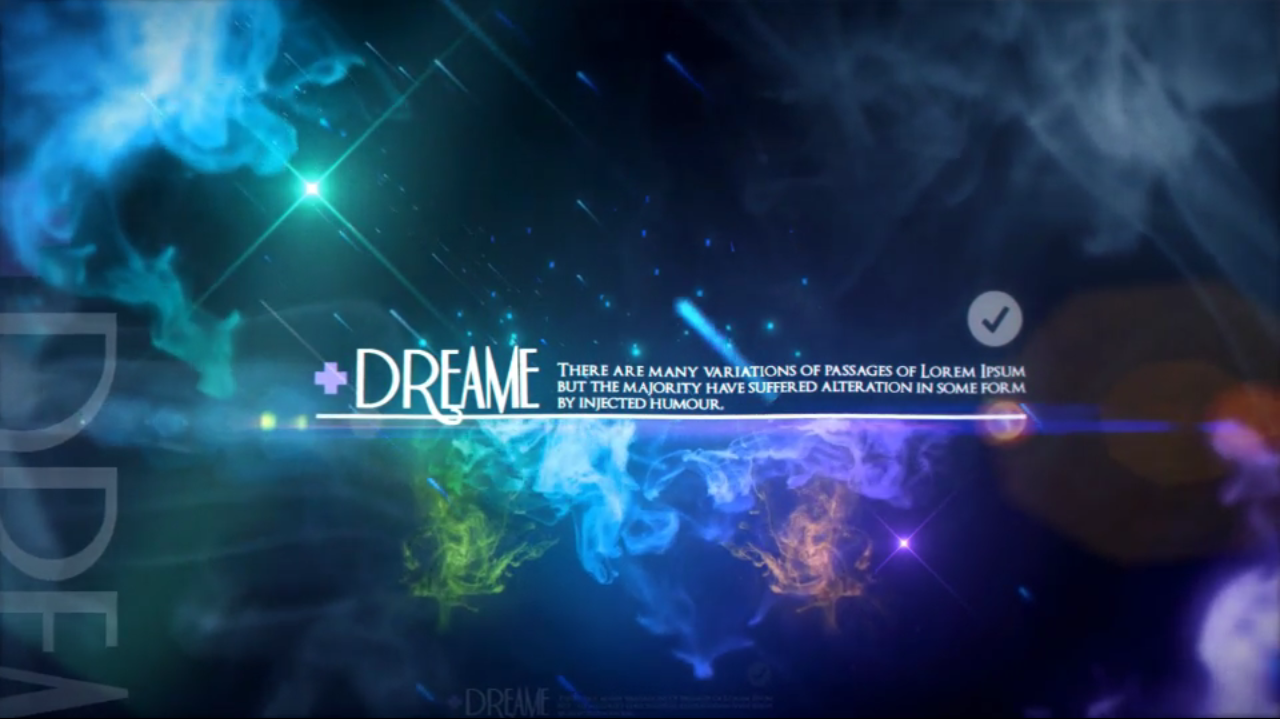 Videohive Space Ink colorful smoke - After Effects Template