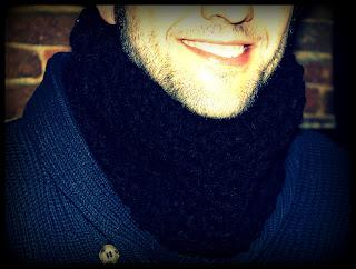 Cuello para hombre a crochet - Ahuyama Crochet