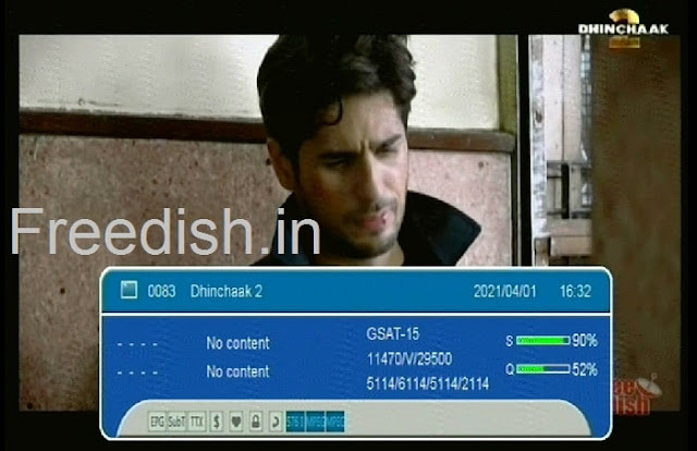 Know Dhinchaak2 Hindi Movie Channel number and Frequency List, dhinchaak 2 schedule, dhinchaak channel program list today