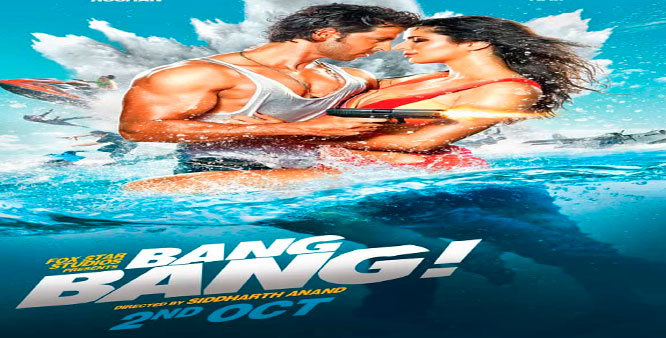Hrithik Roshan, Katrina Kaif Hindi Movie Bang Bang is Box Office Collection 36.76 Crore. It is 10 highest-grossing Bollywood films of All time in MT WIKI List