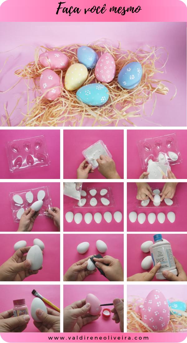 faca você mesmo ovo de gesso para pintar