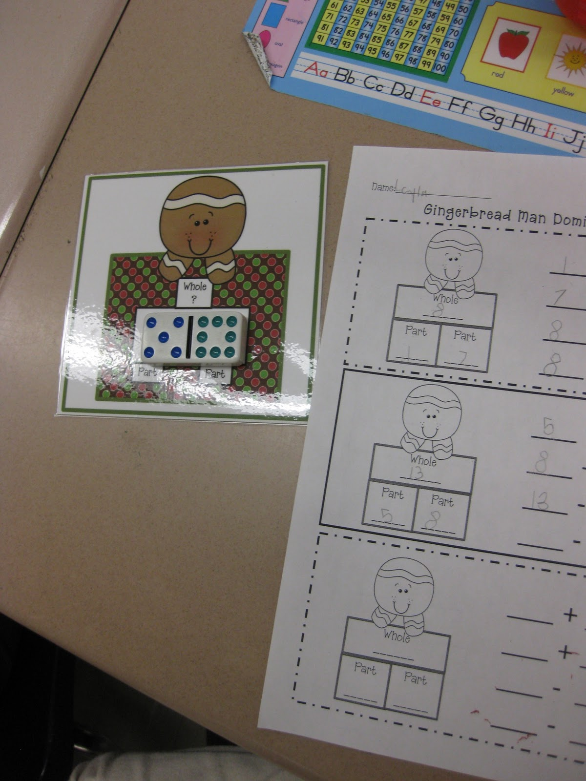 Common Core Gingerbread Math Centers And Cute Snowman Door