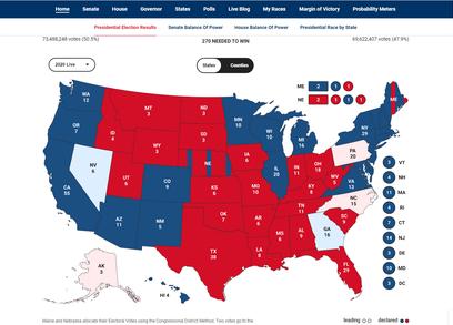 Ông Biden vượt lên dẫn trước ở hai bang chiến địa Georgia, Pennsylvania