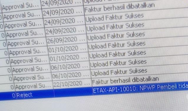 ETAX API 10010 npwp pembeli tidak bisa diganti