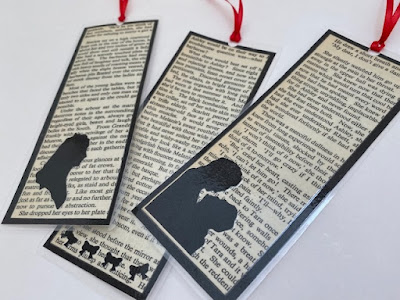 Laminated book marks made from old book pages