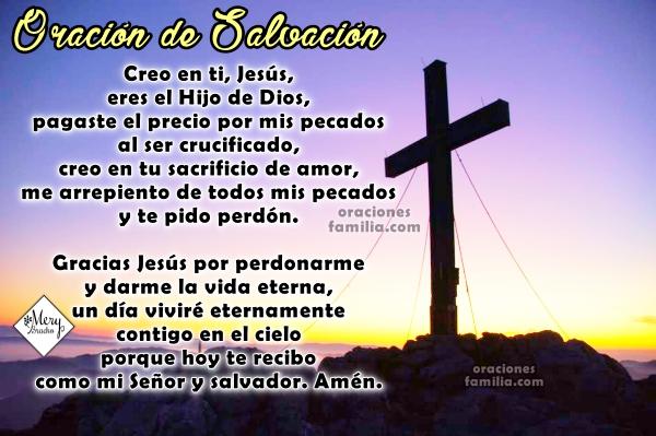 Oración corta para recibir a Jesús como Salvador, oración de salvación, para evangelizar, oración del pecador, imágenes con oración para ser salvo. Oraciones cristianas cortas.