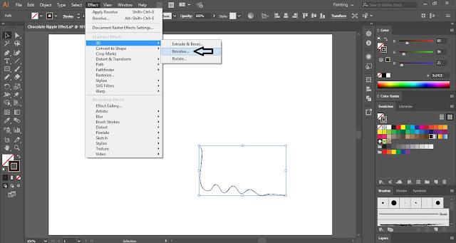 Chocolate Ripple Effect in Adobe Illustrator