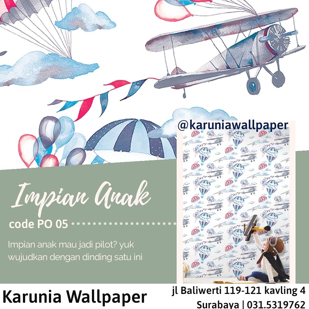 toko jual dinding wallpaper pesawat