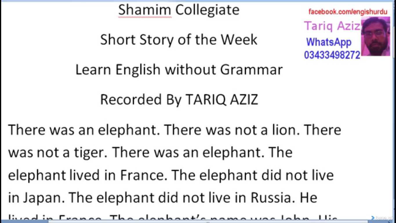 Mini Elephant Story In English Urdu Of The Week-6515