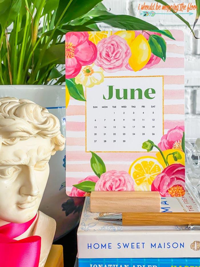Watercolor June Calendar Printable