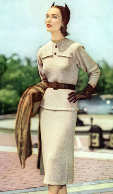 The Vintage Pattern Files : Free 1950's Knitting Pattern - Rendezvous Dress