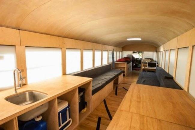 autobusrs convertidos en casas de lujo