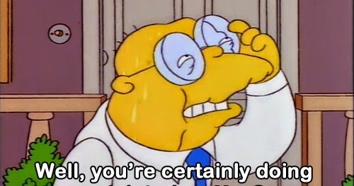 Image result for simpsons how are you doing?