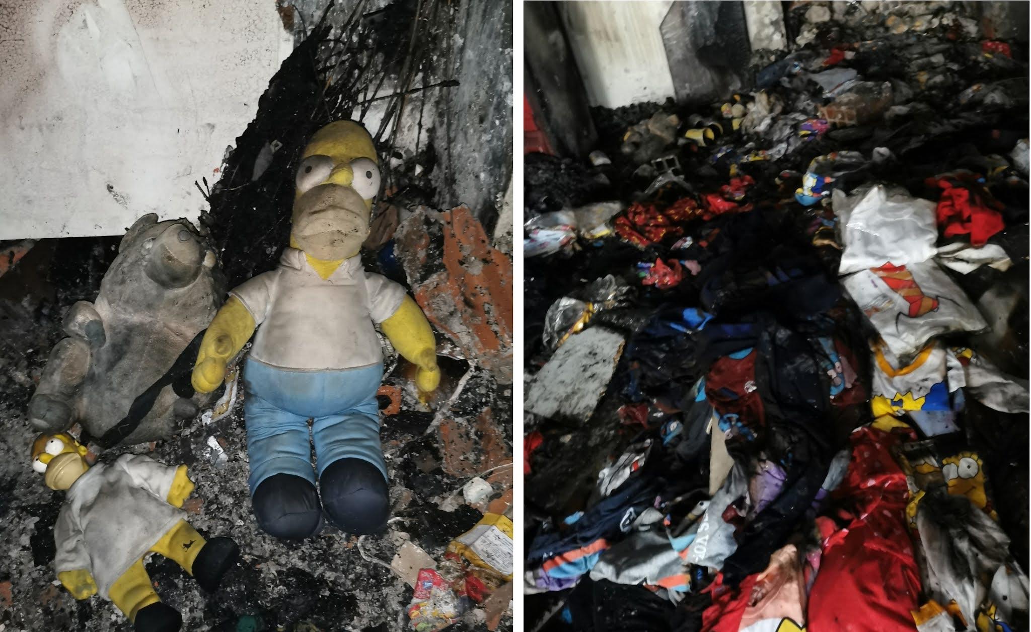 Mercadería original de los Simpsons quedó destruida / MOES STORE BOLIVIA