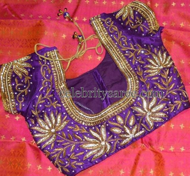 Lotus Work Blouse in Purple