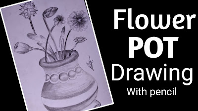 How to draw flower pot , how to draw flowers, how to draw flower pots with pencil ,how to draw flower pots with graphite pencil,flower pencil drawings ,how to draw flower pot step by step tutorial for beginners,  easy drawing of flower pot ,flower pot kids drawing