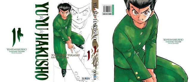 Ivréa presenta la portada del primer tomo kanzenban de Yu Yu Hakusho.