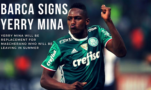 Yerry Mina has become the second player which Barca have signed this winter transfer window. He joins Barca as a replacement for Javier Mascherano who will be leaving this summer. - AllAboutFCBarcelona.com
