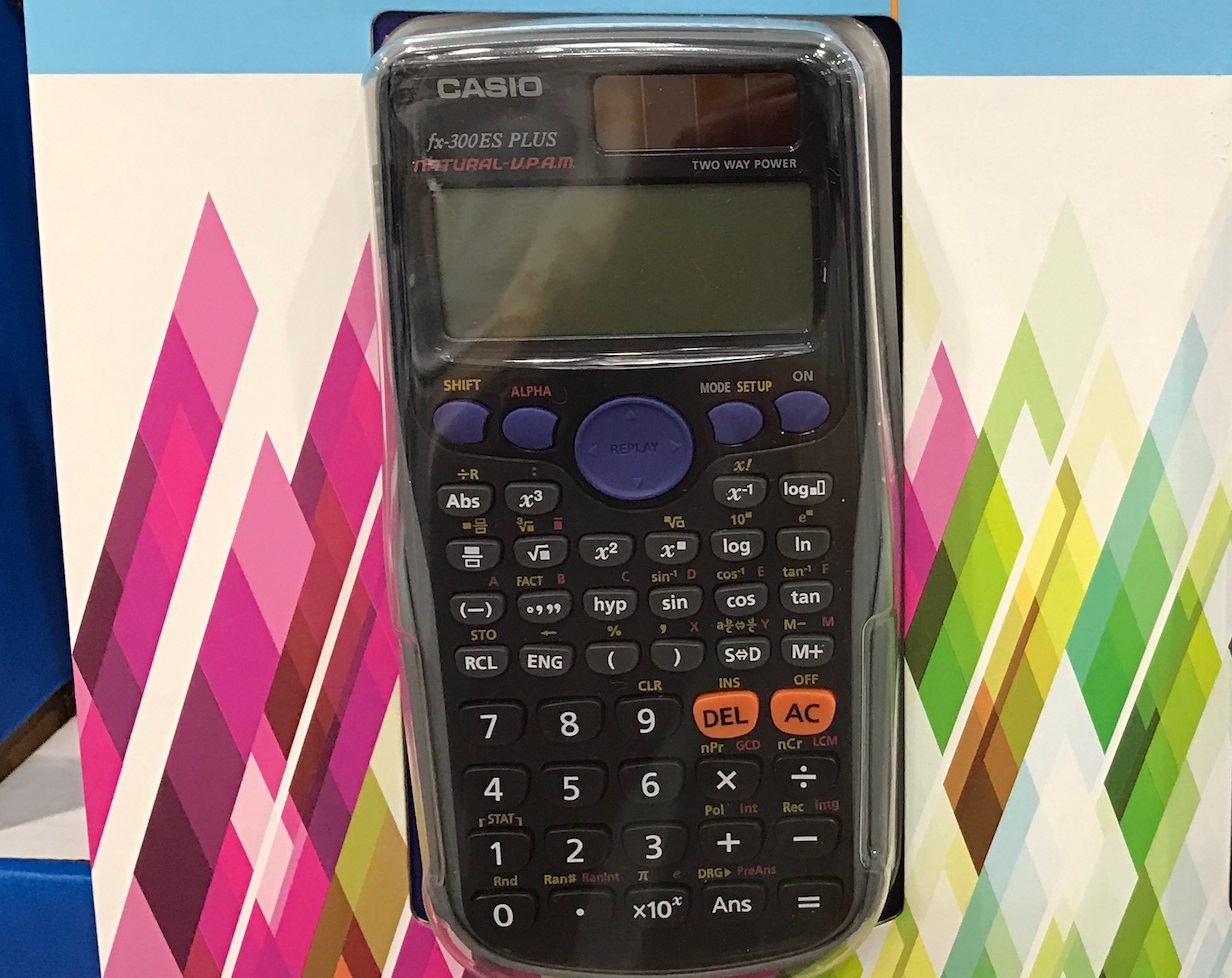Tricky math problems just got easier with the Casio Scientific Calculator fx-300ES PLUS