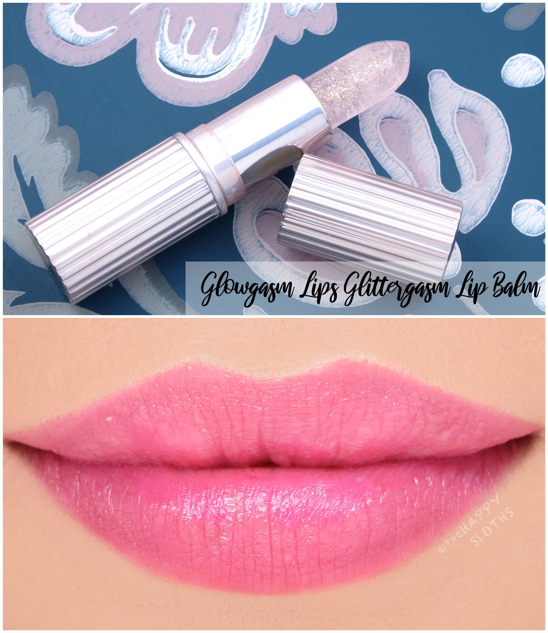 Charlotte Tilbury | Glowgasm Lips Glittergasm Lip Balm: Review and Swatches